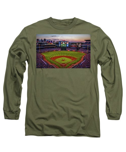 Sunset At Turner Field - Home Of The Atlanta Braves Long Sleeve T-Shirt