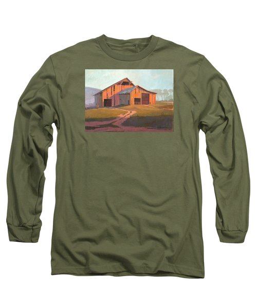 Sunset Barn Long Sleeve T-Shirt by Michael Humphries