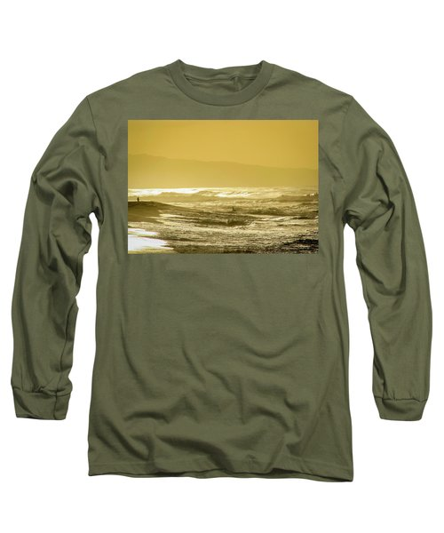 Sunset Beach Aglow  Long Sleeve T-Shirt