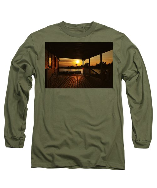 Long Sleeve T-Shirt featuring the photograph Sunset By The Beach by Angel Cher