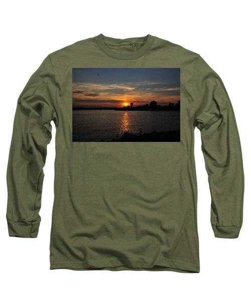 Long Sleeve T-Shirt featuring the photograph Sunset By The Inlet by Angel Cher