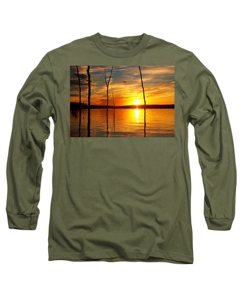 Long Sleeve T-Shirt featuring the photograph Sunset By The Water by Angel Cher