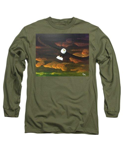 Sunset Eagle Long Sleeve T-Shirt