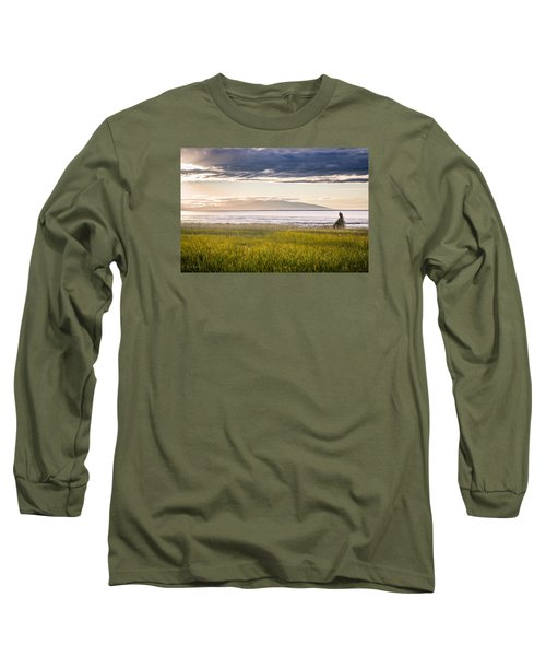 Sunset Eagle Long Sleeve T-Shirt