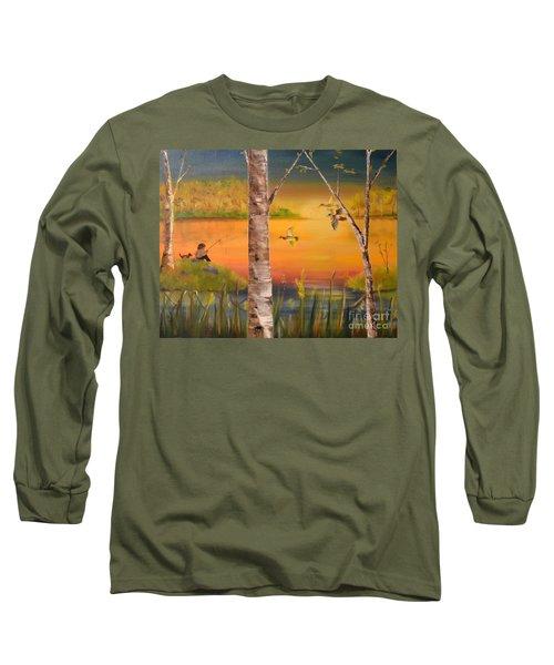 Sunset Fishing Long Sleeve T-Shirt