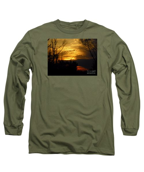 Sunset From Farm Long Sleeve T-Shirt