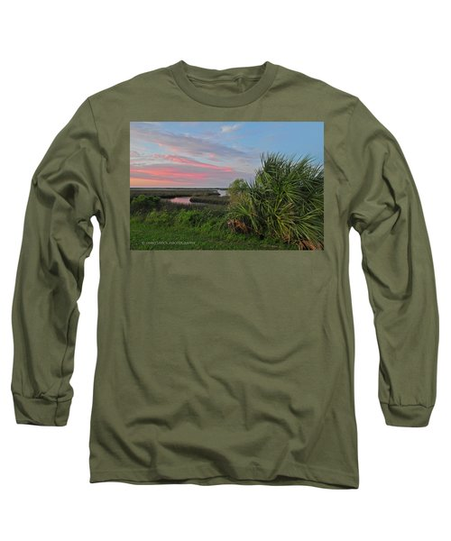 D32a-89 Sunset In Crystal River, Florida Photo Long Sleeve T-Shirt