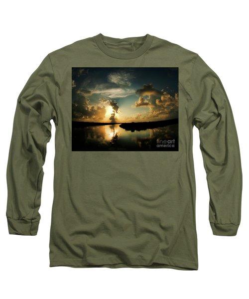 Sunset In Lacombe, La Long Sleeve T-Shirt by Luana K Perez