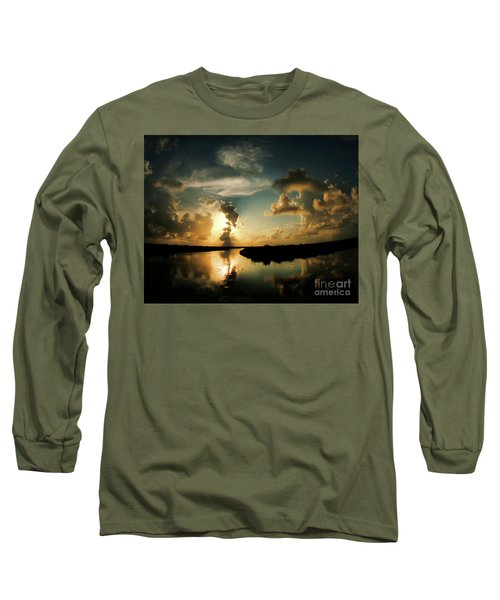 Sunset In Lacombe, La Long Sleeve T-Shirt