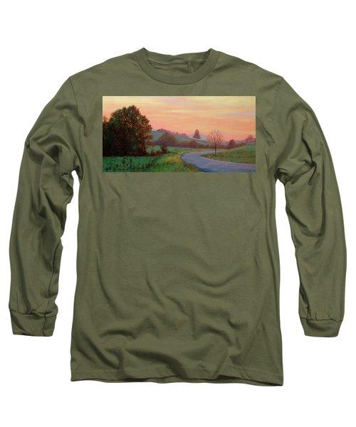 Sunset Meditation- In The Blue Ridge Mountains Long Sleeve T-Shirt
