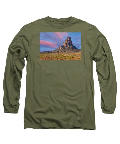 Sunset On Agathla Peak Long Sleeve T-Shirt by Jeff Goulden