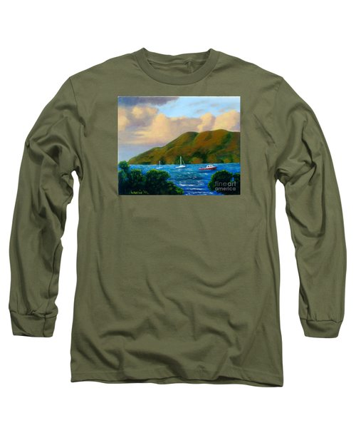 Sunset On Cruz Bay Long Sleeve T-Shirt