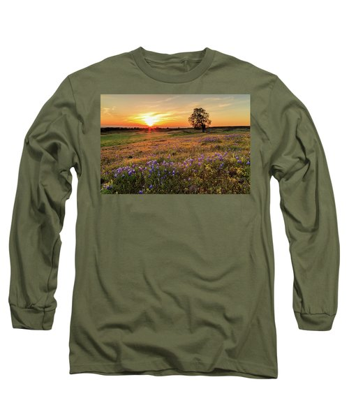 Sunset On North Table Mountain Long Sleeve T-Shirt