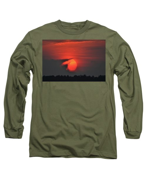 Sunset On Plum Island Long Sleeve T-Shirt by Nancy Landry
