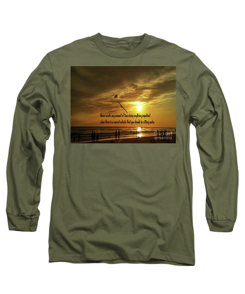 Long Sleeve T-Shirt featuring the photograph Sunset On The Beach by Gary Wonning