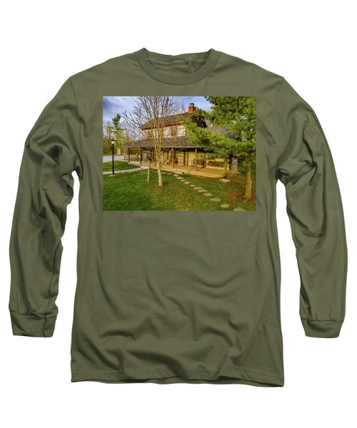 Sunset On The Cabin Long Sleeve T-Shirt