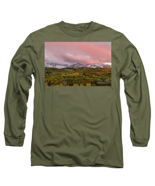 Sunset On The Dallas Divide Ridgway Colorado Long Sleeve T-Shirt