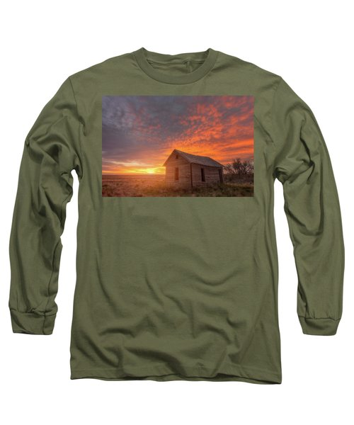 Long Sleeve T-Shirt featuring the photograph Sunset On The Prairie  by Darren White