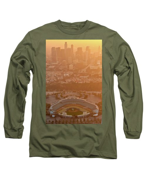 Sunset Over Dodger Stadium Long Sleeve T-Shirt
