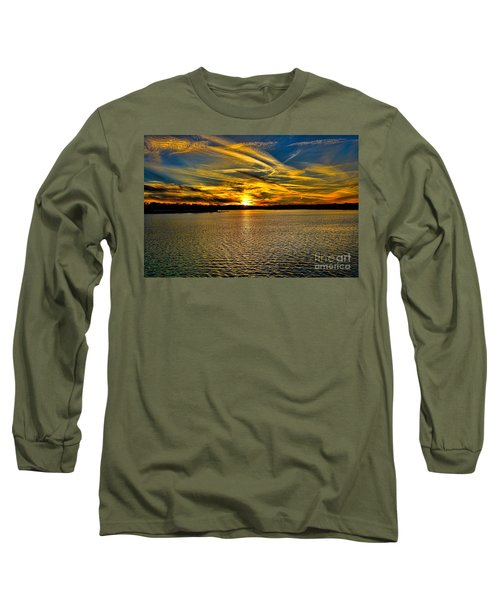 Sunset Over Lake Palestine Long Sleeve T-Shirt