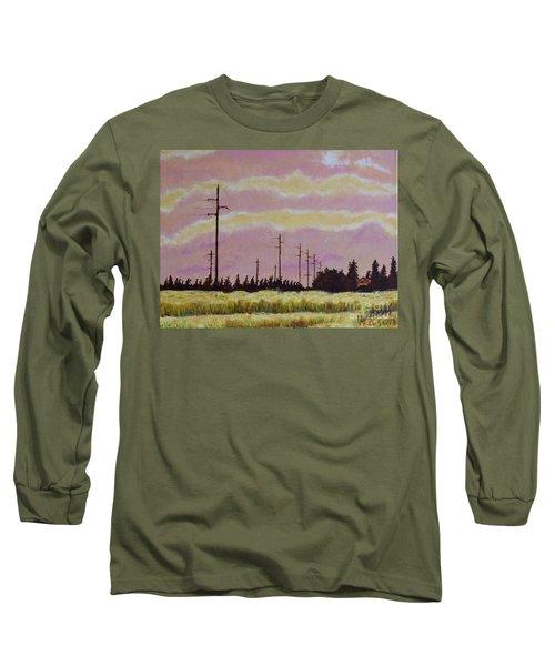 Sunset Over Powerlines Long Sleeve T-Shirt