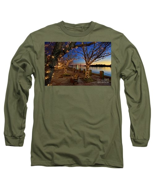 Sunset Over The Wilmington Waterfront In North Carolina, Usa Long Sleeve T-Shirt by Sam Antonio Photography
