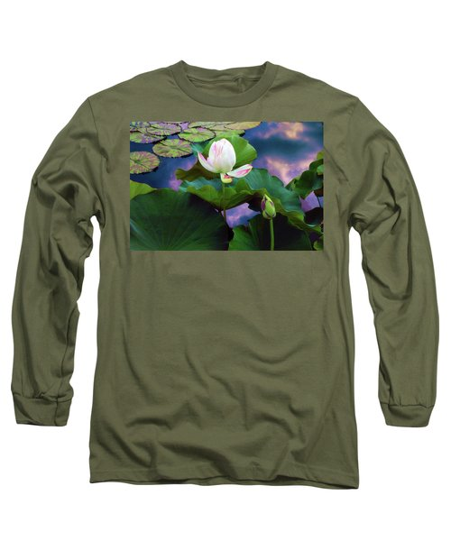 Sunset Pond Lotus Long Sleeve T-Shirt