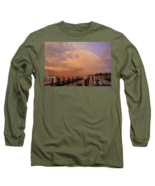 Sunset Rainbow Long Sleeve T-Shirt by Jennifer Casey