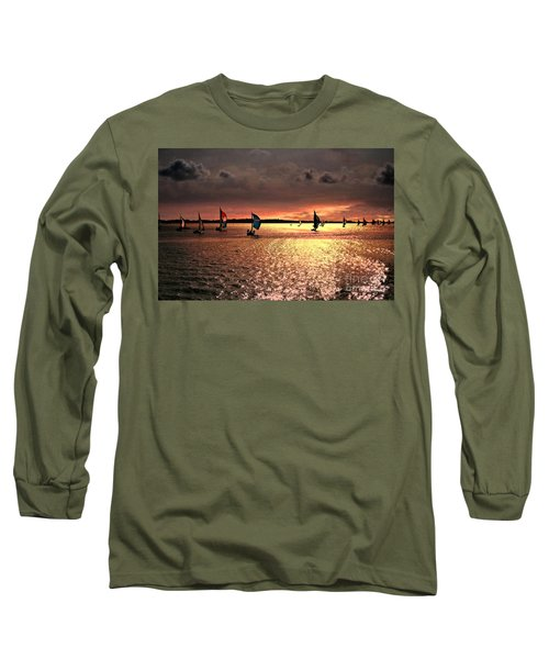 Sunset Sail - Bermuda Long Sleeve T-Shirt