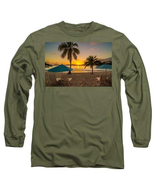 Sunset Secret Harbor Long Sleeve T-Shirt
