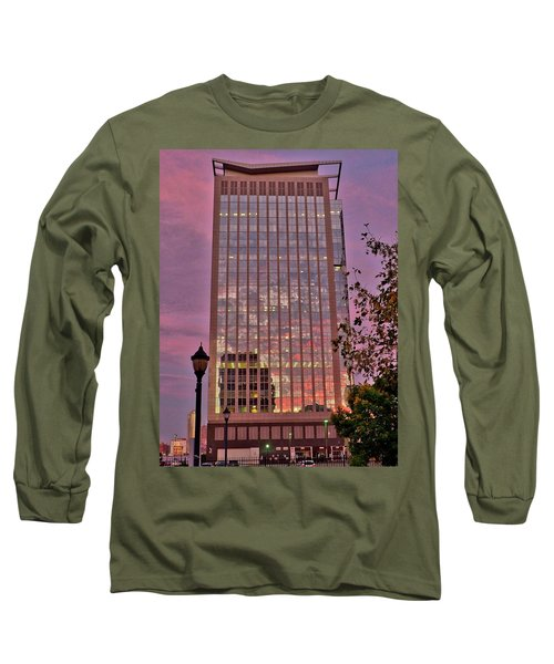 Sunset Skyscraper Long Sleeve T-Shirt