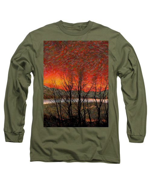 Sunset Soliloquy Long Sleeve T-Shirt by Ed Hall