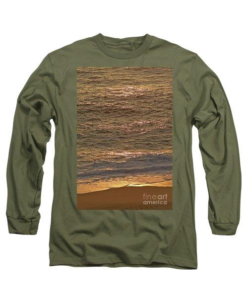 Sunset Waves Over Carmel Beach Long Sleeve T-Shirt