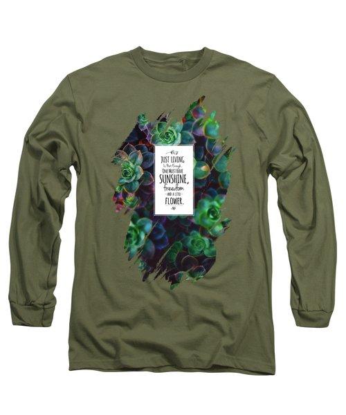 Sunshine, Freedom, Flower Long Sleeve T-Shirt by Atelier Seneca