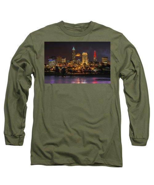 Super Moon 2016 Over Cleveland Long Sleeve T-Shirt