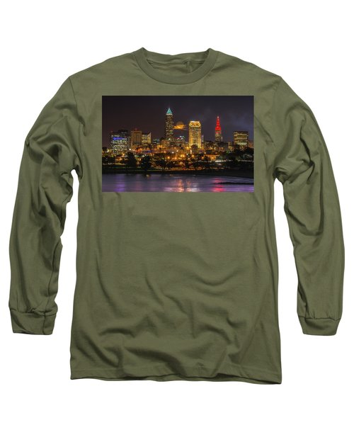 Super Moon 2016 Over Cleveland Long Sleeve T-Shirt