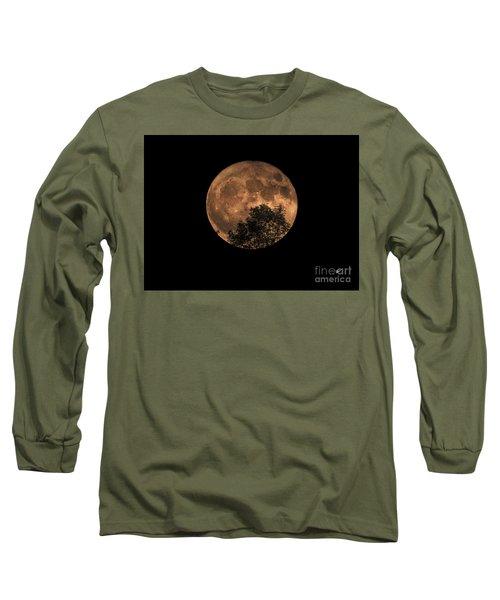 Supermoon Rising Long Sleeve T-Shirt by Alana Ranney