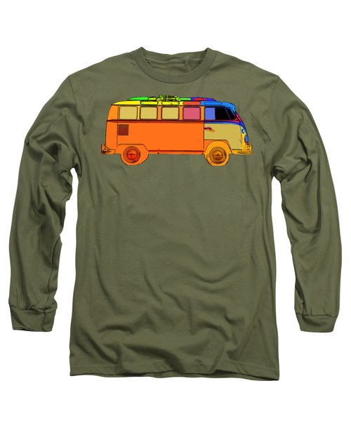 Surfer Van Transparent Long Sleeve T-Shirt