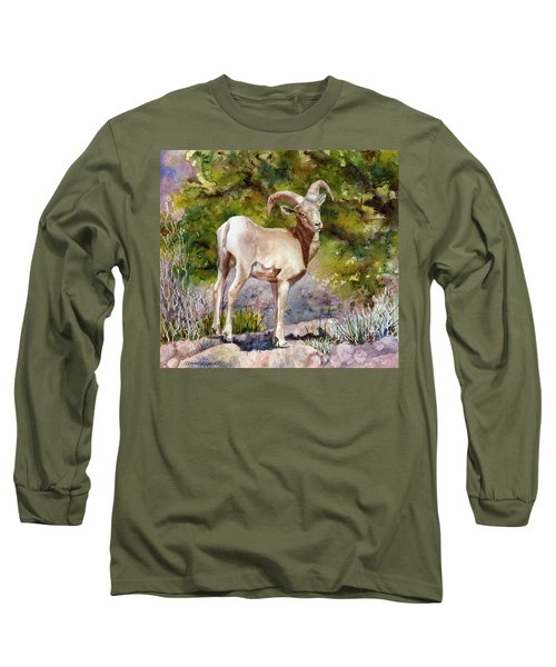 Surprised On The Trail Long Sleeve T-Shirt by Anne Gifford