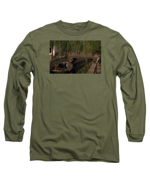 Long Sleeve T-Shirt featuring the photograph Suzhou Canals by Travel Pics