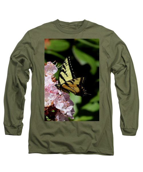 Swallow Tail On Mountain Laurel Long Sleeve T-Shirt
