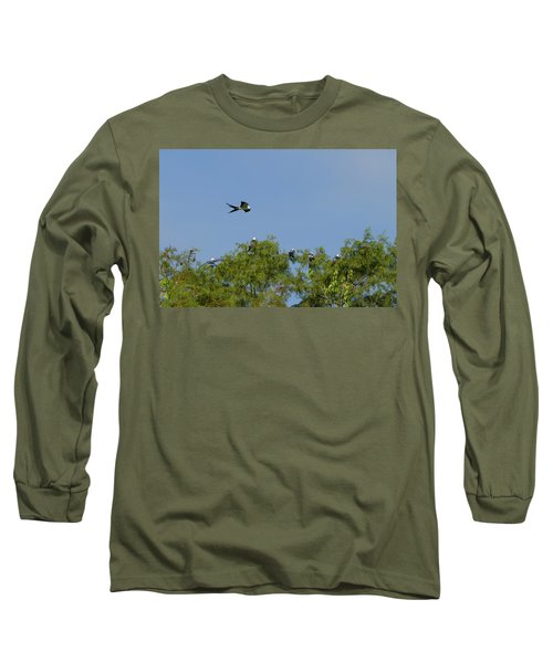 Swallow-tailed Kite Flyover Long Sleeve T-Shirt by Paul Rebmann