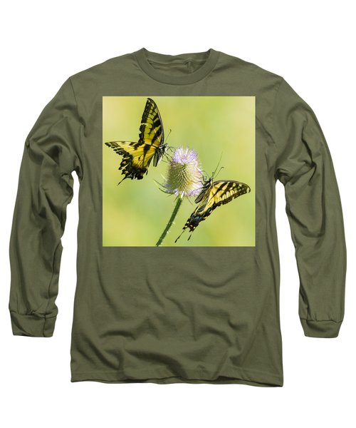 Swallowtails On Thistle  Long Sleeve T-Shirt