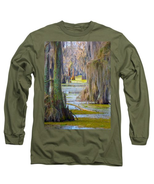 Swamp Curtains In February Long Sleeve T-Shirt