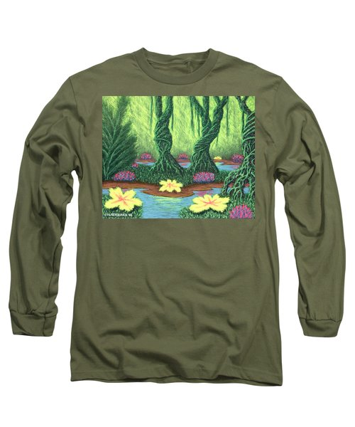Swamp Things 02, Diptych Panel A Long Sleeve T-Shirt