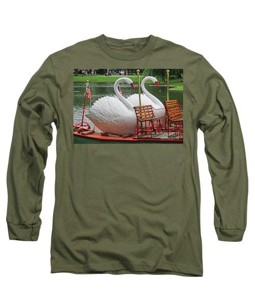 Swan Boat Boston Common Long Sleeve T-Shirt