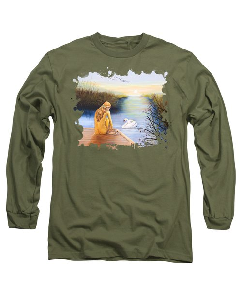 Swan Bride T-shirt Long Sleeve T-Shirt by Dorothy Riley