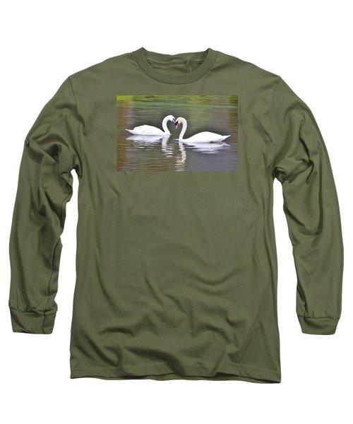 Swan Love Long Sleeve T-Shirt by Diane Alexander