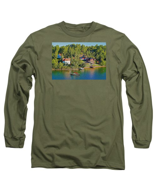 Long Sleeve T-Shirt featuring the photograph Swedish Island Village by Dennis Cox WorldViews