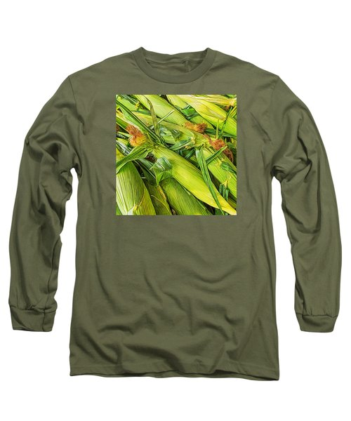 Sweet Corn Long Sleeve T-Shirt by Lewis Mann